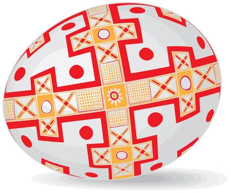 Realistic color Easter eggs in the Ukrainian style Ethnic Images