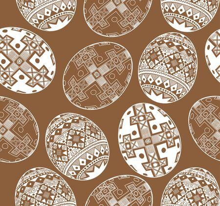 Easter egg pattern  Seamless monochrome image  Background