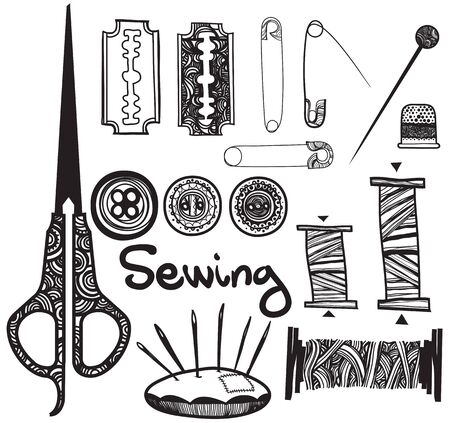 set sewing accessories
