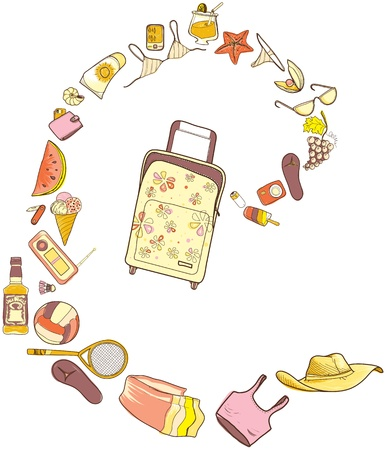 Go to summer beach