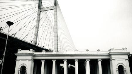 Palace entrance beside of a bridge Stock fotó