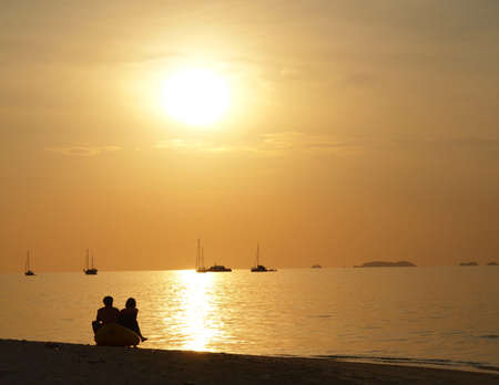 sunset with Lover photo