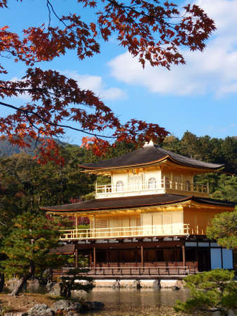 gold temple japan Stock Photo - 19325916