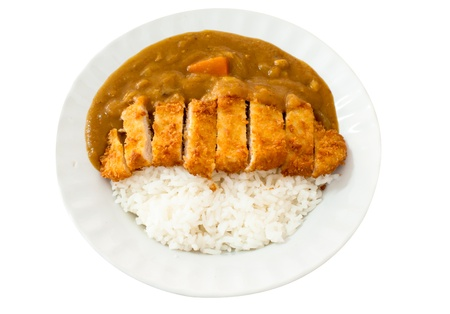 Japanese cuisine, Curry rice with pork cutlet  photo
