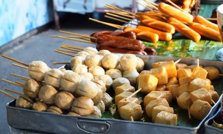 alimentos en la v�a Foto de archivo
