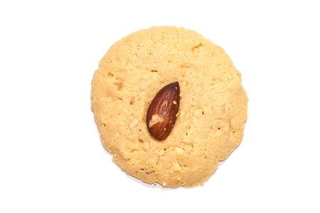 cikolatali: Almond cookie on white background Stock Photo