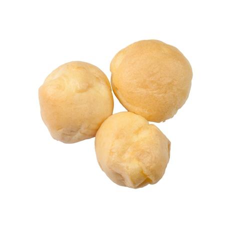 Eclairs en la placa dulce pastel de crema de postre