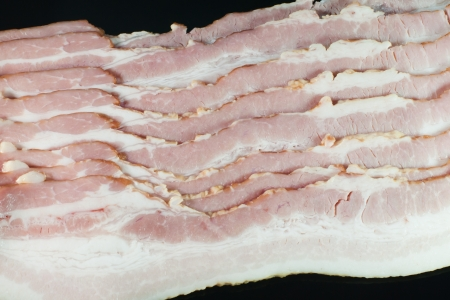 Raw dry-cured back bacon photo