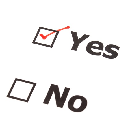 Yes No check boxes,check Yes photo
