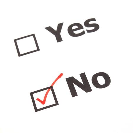 Yes No check boxes,check No photo