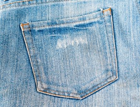blue jeans: Blue jeans pocket  Stock Photo