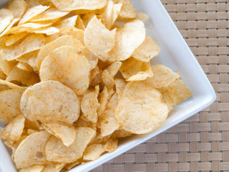 Salty potato chips  photo