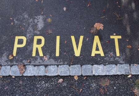Private on road photo