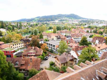 Cityscape of Berne, Switzerland  Beautiful old town photo