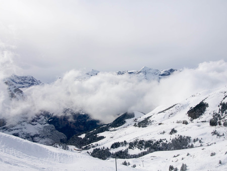 Snow Mountain Landscape at Switzerland  photo