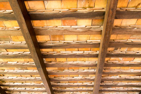 Pattern of under the roof tiles Stock Photo