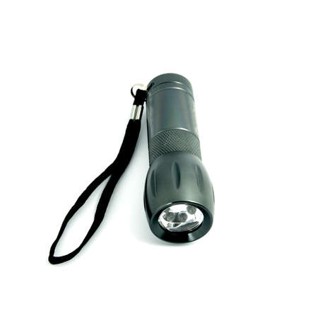 Flashlight isolated on white  photo