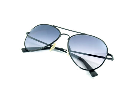Aviator sunglasses isolated on white background photo