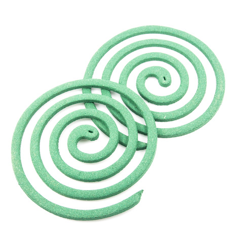 deterent: Mosquito coil Stock Photo