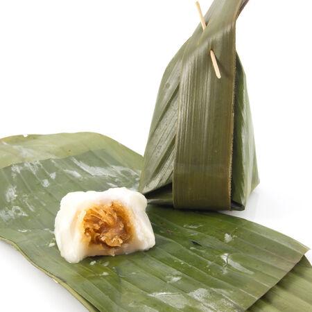 Khanom Sod-Sai, Steamed Flour with Coconut Filling