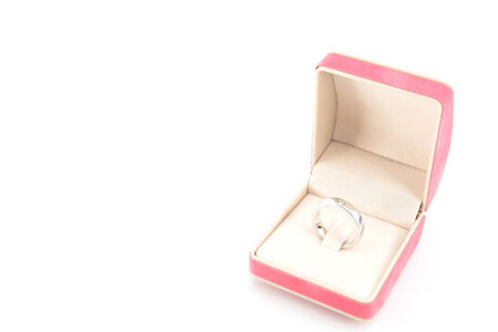 diamond ring in a velvet box photo
