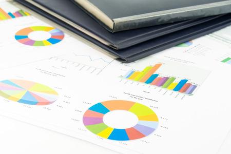 kleurrijke grafieken, tabellen, marketing onderzoek en bedrijfsleven jaarverslag achtergrond