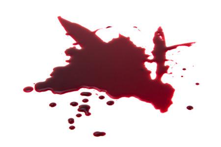 slaying: Blood splashes splatter trash background