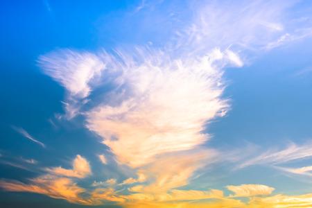 Puesta del sol con nubes Foto de archivo