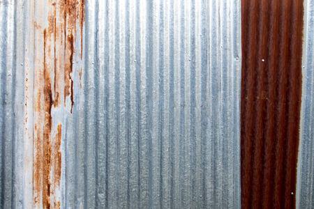 galvanized: Rusted galvanized iron