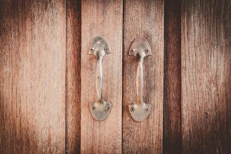 Old door handle in vintage. photo