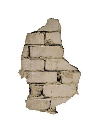 Durch ein Loch in der Wand ist es sichtbar Ziegel