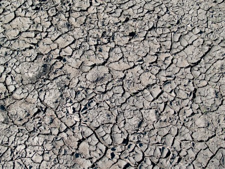 earth cracked by drought