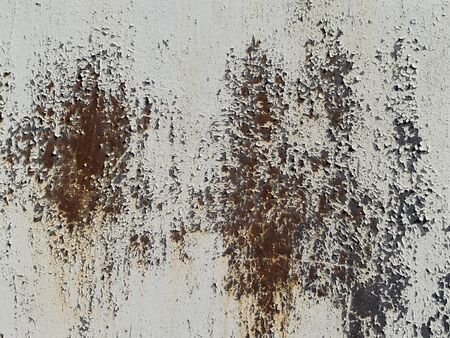 Texture of rusty metal with paint for a background