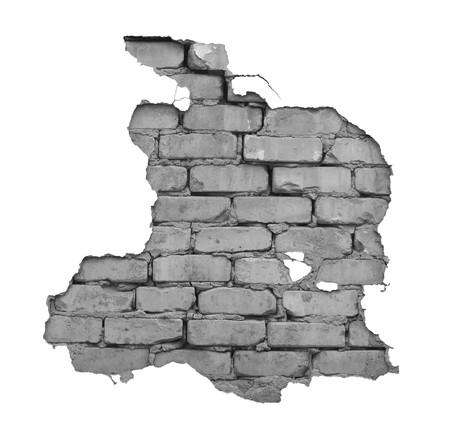 Durch ein Loch in der Wand ist es sichtbar bricks