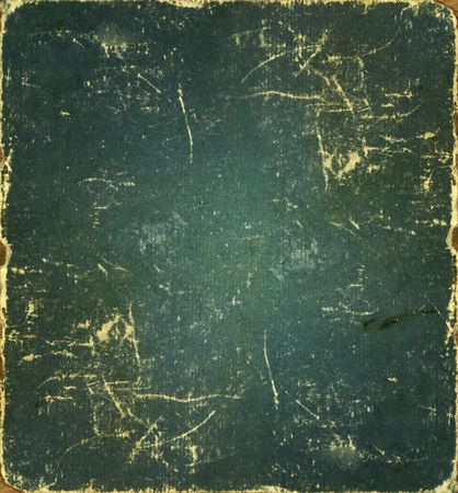 uneven edge: Green old dirty paper