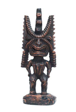 an ancient deity of Hawaiian residents isolated on a white photo