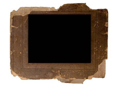 cruddy: vintage photo frame isolated on white