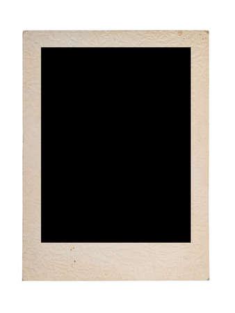 vintage photo frame isolated on white photo