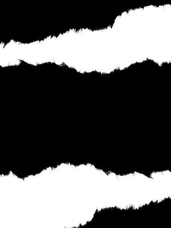 RIP schwarz texturiert Papier und white background