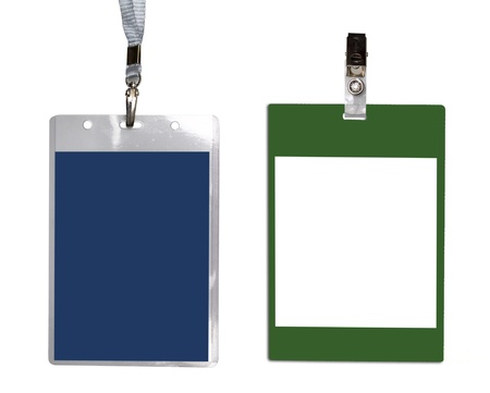 Diferent name badges isolated on a white background
