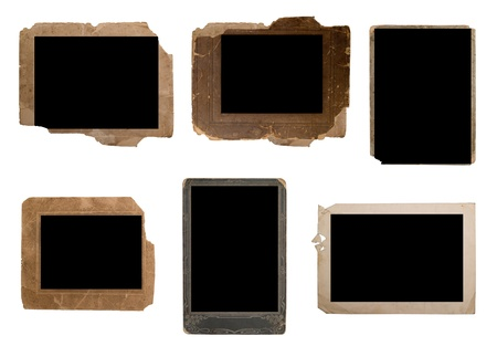 Set of vintage photo frame isolated on white photo