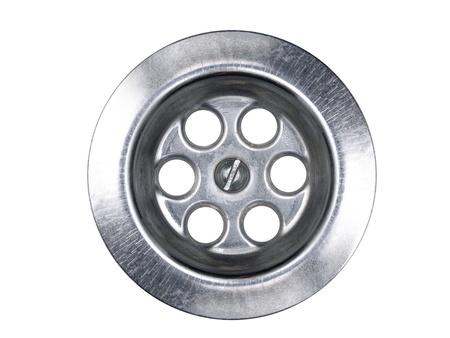 Metallic spout isolated on white background