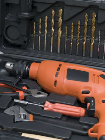 A set of tools in a special box close-up Stock Photo - 8913564