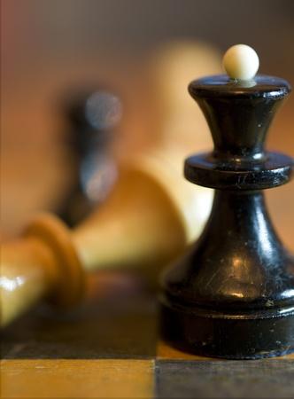 strategic advantage: chessmen close