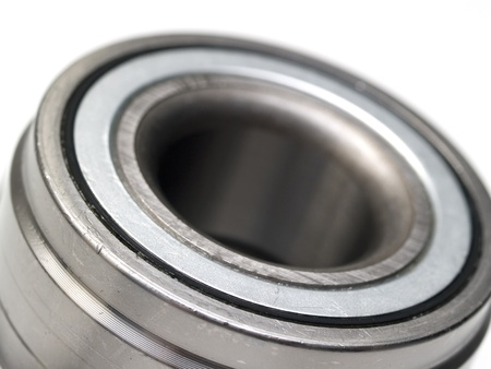 concision: metal hub bearings on a white
