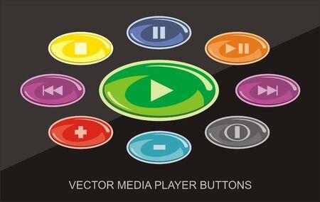 Player button set. Vector