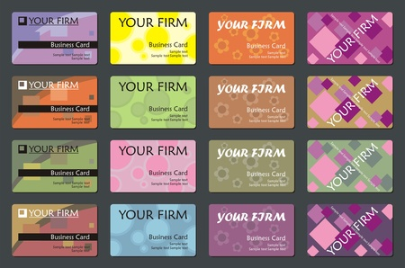 Different business card tepmlates, vector