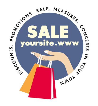 seller: logo company of discounts and promotions Illustration