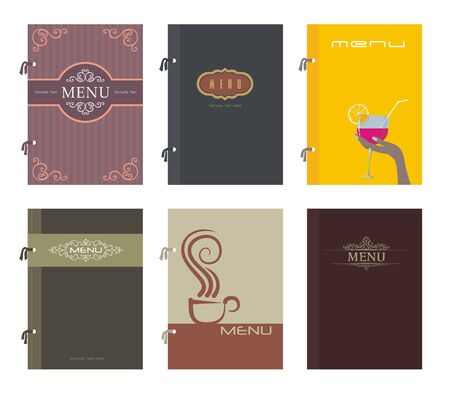 Set of restaurant menu design, vector illustration Stock Vector - 12379287