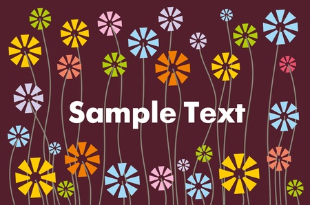abstract floral pattern for text